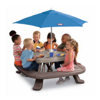 Mesa Picnic com Guarda-Sol Little Tikes