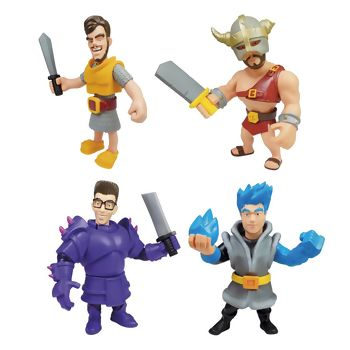 Bonecos Youtubers Clash Royale Zr Toys